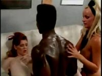 Hot young girls Jeanette and Stacy sharing a big black cock