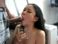 So Much Spit She Needed A Glass