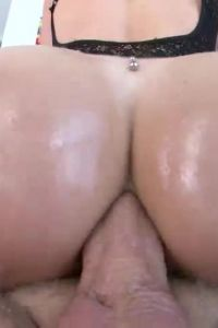 Beautiful Brunette Hot Cowgirl Anal