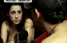 Argentinian TV Presenter Gets Naked To Interview Nudists