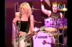Courtney Love Showing Her Tits During A Broadcast Of The Big Day Out Festival