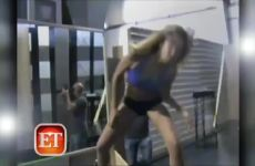 Jessica Alba Practicing Her Stripper Moves On An Episode Of Entertainment Tonight
