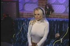 Pamela Anderson Teases Howard Stern On His Radio Show.