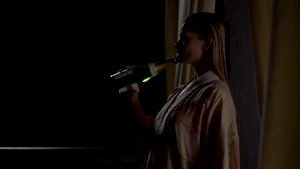 """Jaime Pressly Playing With Champagne In """"Poison Ivy: The New Seduction"""""""