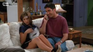 Jennifer Aniston Showing Us Her Succulent Thighs In Friends.