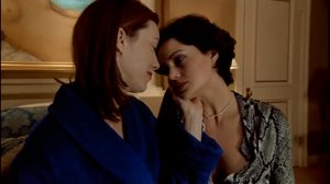 Molly Parker And Carla Gugino Making Out In The Center Of The World