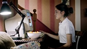 """Natalia Dyer Fingering Herself At The Computer, From """"Yes, God, Yes"""""""