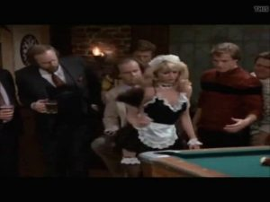 Playboy Playmate Karen Witter. 80's TV Show Cheers. She Plays A Stripper At A Bachelor Party.