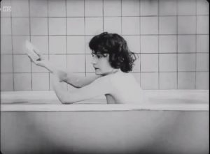 Vintage Plot: Buster Keaton Interrupting Our View Of Sybil Seely