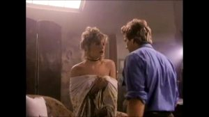 """Young Sharon Stone Showing Her Plots In """"Irreconcilable Differences"""""""