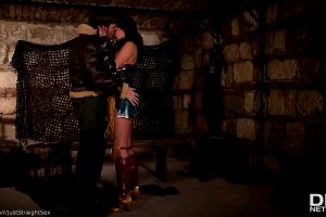 """Anissa Kate & Ryan Ryder In """"Horny Wonderwoman: Salacious Babe In Costume Fucked Up Her Ass"""""""
