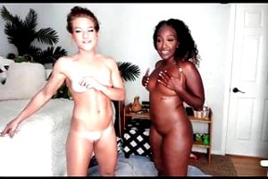 Black and white cam girls