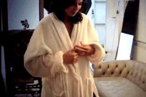Boobs-flashing-open-robe-huge-rack-brunette