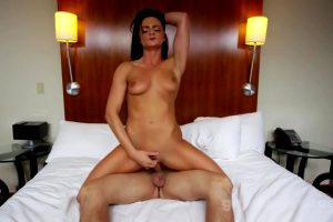 Darkhaired Babe In Red Dress Gets Creampied – High Def Porn Movies