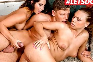 LETSDOEIT Hot Big Ass Teen Babes Craves For Stebrother Cock