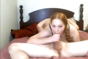Sexy Long Haired Redhead Hardcore, Braids, Blowjob, Creampie