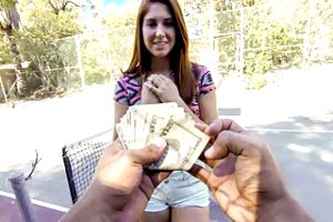 Young Redhead Fucked By Stranger In Public For Cash, POV